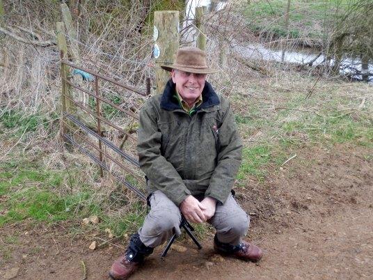 Roy on his tri-pod stool