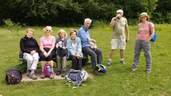 Taking a rest at the top of Crabtree Hill