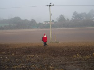Is that Father Christmas crossing the field?