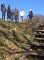 At the top of St Catherines steps